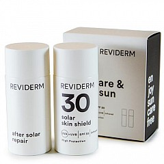 Reviderm sun care & after sun mini set - 50 ml Solar Skin Shield SPF 30 + 50 ml After Solar Repair