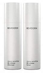 Reviderm neuro sensitive de-stress cleanser & toner 2x200ml