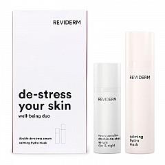 Reviderm neuro sensitive de-stress your skin set - well being duo - 40 ml double de-stress serum + 50 ml calming hydro mask