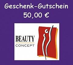 Gutschein Beauty Concept 50,- Euro