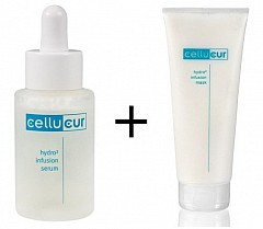 Cellucur / Reviderm Hydro² infusion Serum 30ml und Hydro² infusion Serum Mask 50ml Set